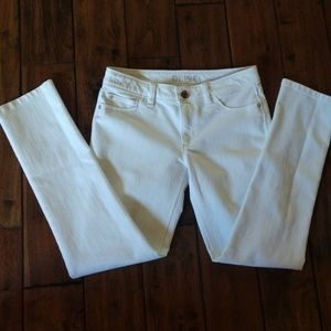 DL1961 White Stretch Denim Pants